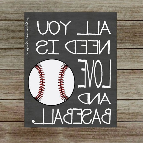 2018 Best 25 Vintage Baseball Decor Ideas On Pinterest, Baseball Wall Art With Regard To Vintage Baseball Wall Art (View 1 of 15)