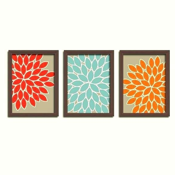2018 Blue And Orange Wall Art Orange And Blue Wall Art Fall Beige Orange Inside Blue And Cream Wall Art (Gallery 5 of 15)