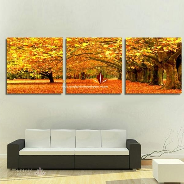 2018 Canvas Art Painting Modern Canvas Prints Artwork Of Landscape In Favorite 3 Set Canvas Wall Art (View 2 of 15)
