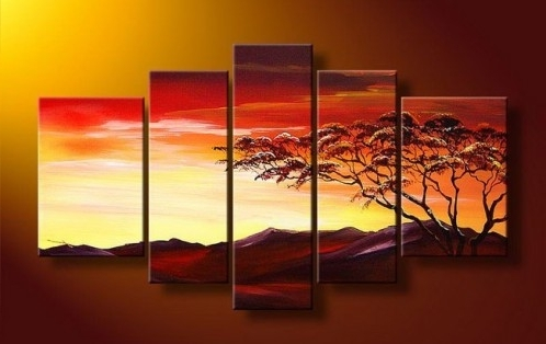 2018 Cheap Wall Art Sets Regarding 5 Piece Art, 5 Piece Canvas Art Sets (View 2 of 15)