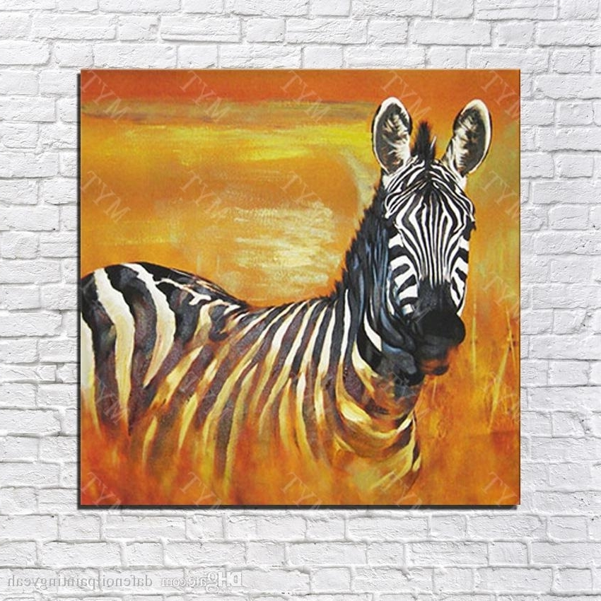 2018 Chinese Oil Painting African Wild Animal Zebra Wall Pictures In Latest Zebra Wall Art Canvas (View 1 of 15)