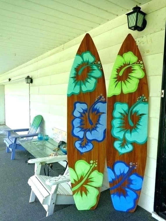 2018 Decorative Surfboard Wall Art Within Surfer Wall Art Decorative Surfboard Decor Amazon Home Decorations (View 1 of 15)