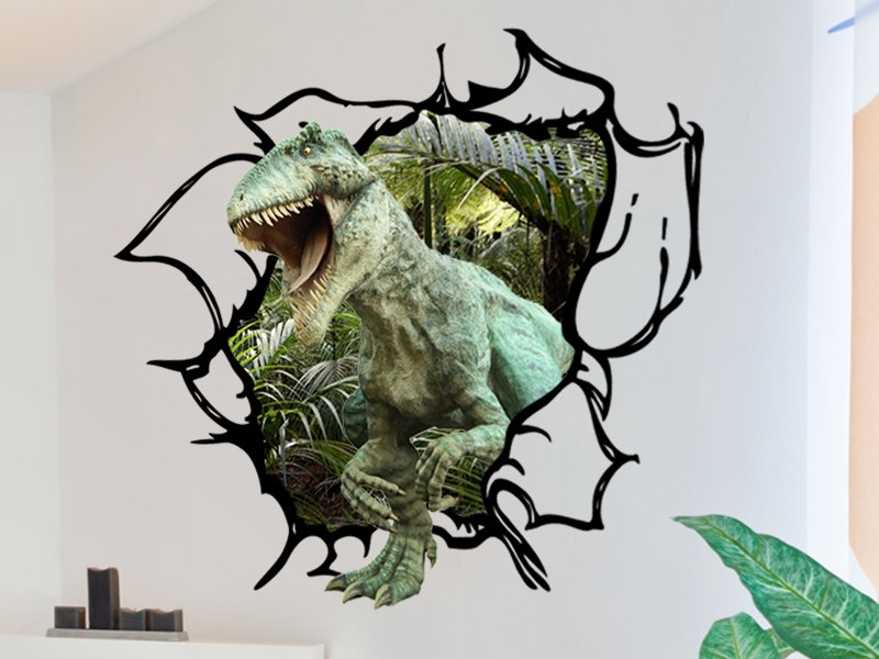 2018 Dinosaur Wall Decals Prehistoric World In Your Bedroom — Batchelor Intended For Dinosaurs 3D Wall Art (View 1 of 15)