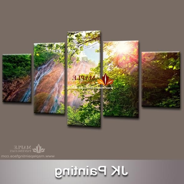 2018 Dropship Waterfall Canvas Art Print Artwork Modern Painting In Well Liked Waterfall Wall Art (View 7 of 15)