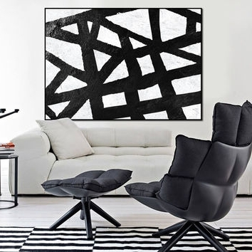 2018 Fashionable Design Ideas Black And White Abstract Wall Art Best Pertaining To Extra Large Canvas Abstract Wall Art (View 2 of 15)