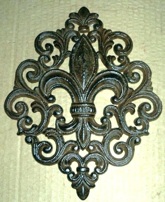 2018 Fleur De Lis Metal Wall Art Regarding Fleur De Lis Metal Wall Decor Iron Wall Cor Iron Wall Cor Arts Metal (View 1 of 15)