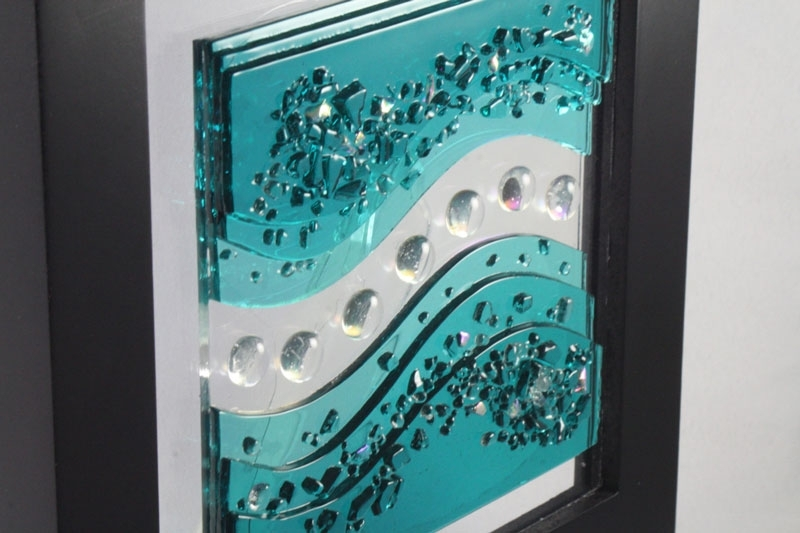 2018 Fuse Glass Wall Art  Caribbean Blue Waves – Jm Fusions With Regard To Fused Glass Wall Art (View 7 of 15)