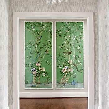 2018 Green Fabric Chinoiserie Wall Panels Design Ideas For Chinoiserie Wall Art (View 2 of 15)