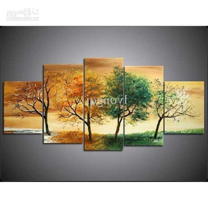 2018 Hand Painted Hi Q Modern Wall Art Home Decorative Abstract Pertaining To Well Liked Abstract Landscape Wall Art (View 14 of 15)