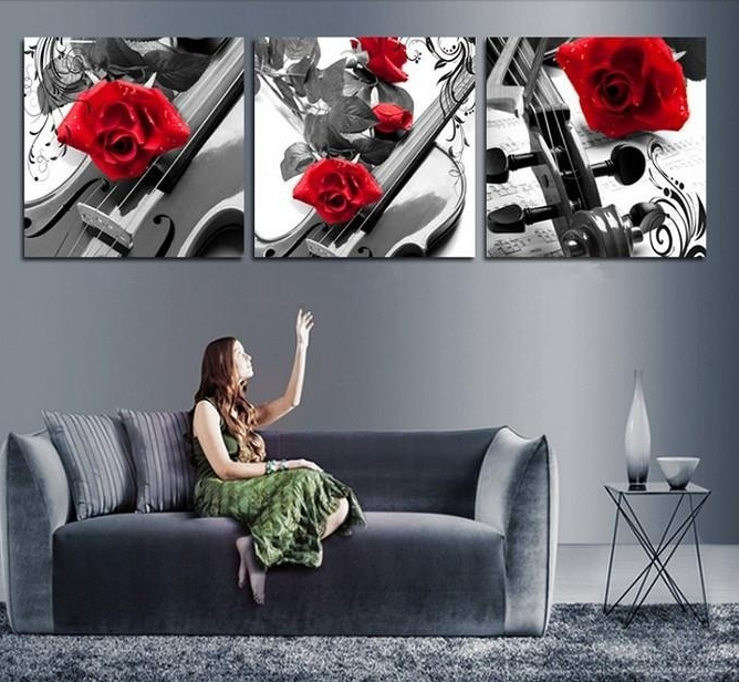 2018 Handmade Black White Red Wall Art Oil Paintings On Canvas Large Throughout Latest Black White And Red Wall Art (Gallery 8 of 15)
