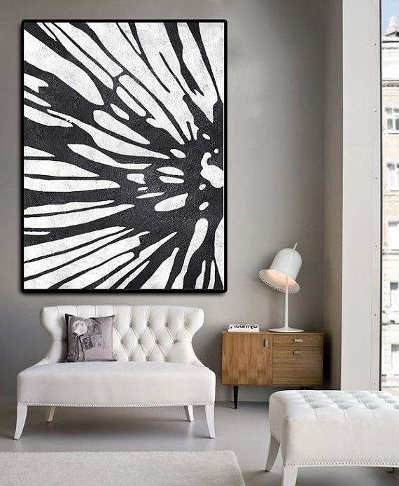 2018 Huge Abstract Painting On Canvas, Vertical Canvas Painting, Extra In Long Vertical Wall Art (View 1 of 15)