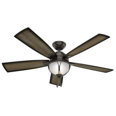 2018 Hunter – Industrial – Outdoor – Ceiling Fans – Lighting – The Home Depot Throughout Industrial Outdoor Ceiling Fans With Light (View 1 of 15)