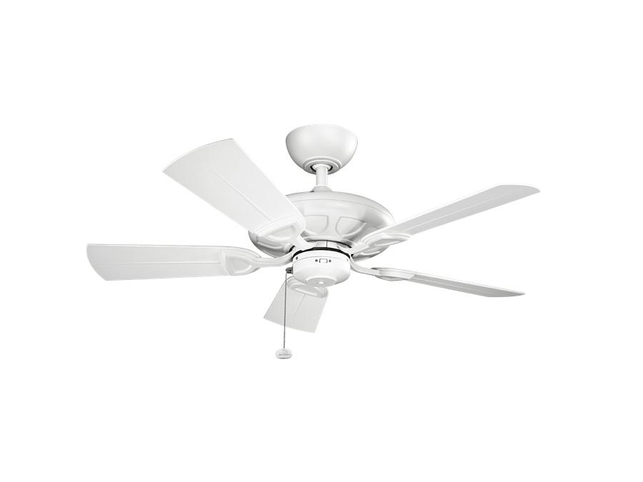 2018 Kichler 42 Inch Kevlar Outdoor Ceiling Fan – Matte White Within 42 Inch Outdoor Ceiling Fans (View 15 of 15)
