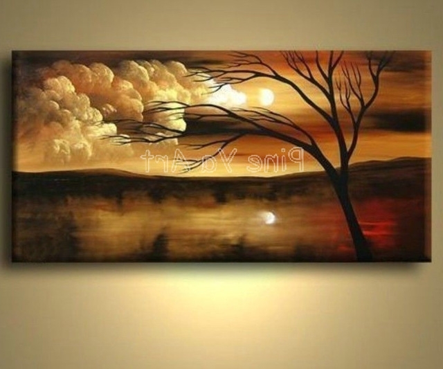 2018 Large Abstract Modern Canvas Wall Art Decorative Handmade Nature Intended For Abstract Nature Canvas Wall Art (View 3 of 15)