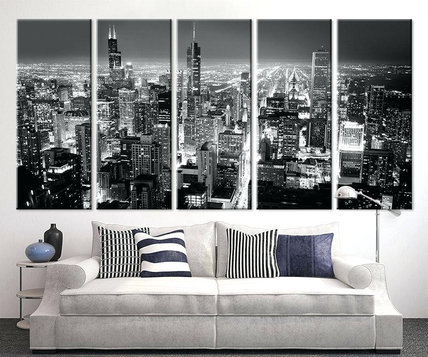 2018 Large Black And White Wall Art Canvas Prints Framed – Crystalfrost Throughout Large White Wall Art (Gallery 11 of 15)