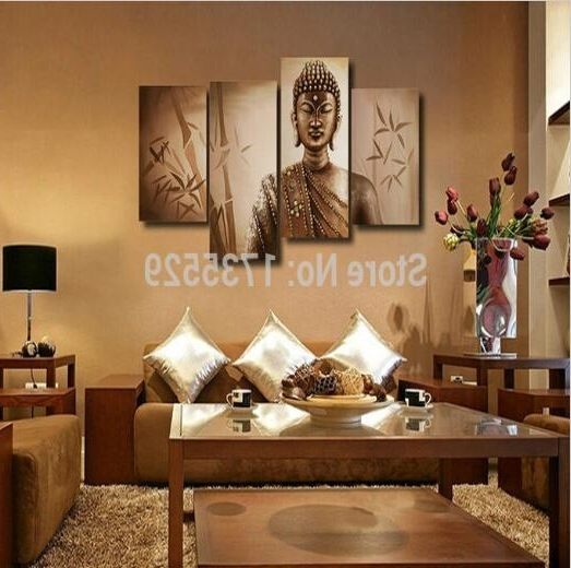 2018 Large Buddha Wall Art Religion Canvas Hd Oil Painting Modern Regarding Well Known Large Buddha Wall Art (View 3 of 15)
