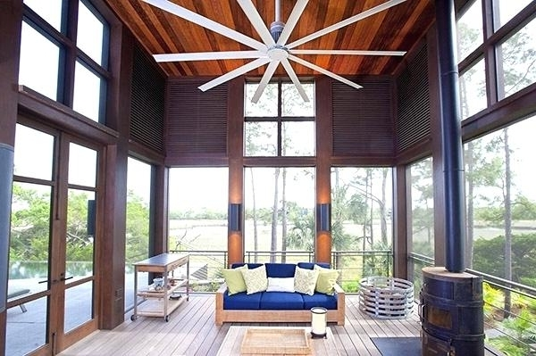 2018 Large Outdoor Ceiling Fans With Lights With Large Ceiling Fans Large Industrial Outdoor Ceiling Fans – Umigo (View 3 of 15)