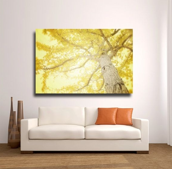 2018 Large Yellow Wall Art, Yellow Tree Photography, Canvas Wrap, Modern In Large Yellow Wall Art (View 2 of 15)