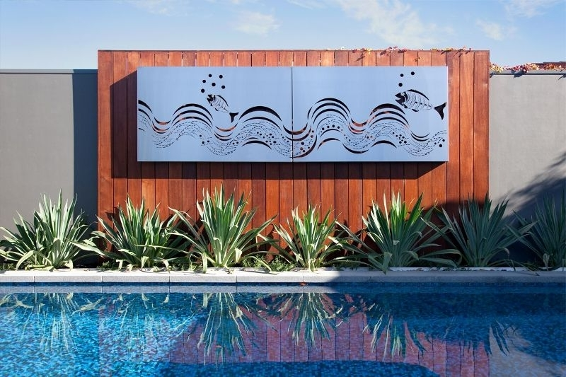 2018 Laser Cut Stainless Steel 'fish Wave' Wall Art Panels For Stainless Steel Outdoor Wall Art (View 2 of 15)