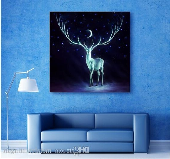 2018 Led Lights Wall Art Canvas Spray Painting Light Up Stretched With Famous Wall Art With Lights (Gallery 7 of 15)