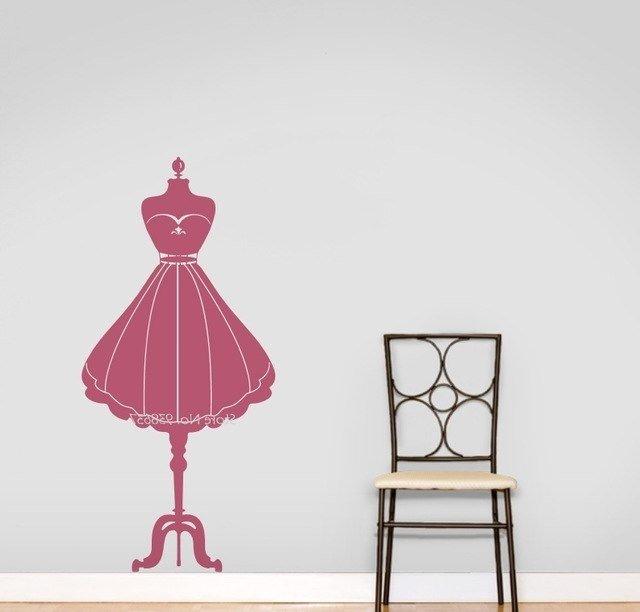 2018 Mannequin Wall Art Intended For Fashion Mannequin Wall Art Decals Home Decoration Adesivo De Parede (View 1 of 15)