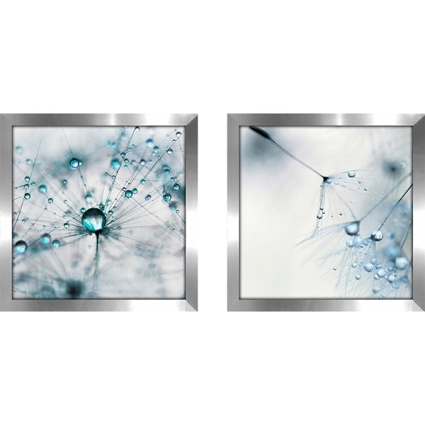 """2018 Matching Wall Art With Regard To Shop Art Sets Of 2 Twin Set Matching """"baby Blue"""" Framed Acrylic Wall (View 15 of 15)"""