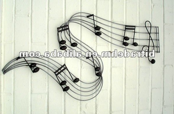 2018 Metal Music Notes Wall Decor Metal Notas Musicais Da Decoração Da P For Metal Music Notes Wall Art (Gallery 1 of 15)