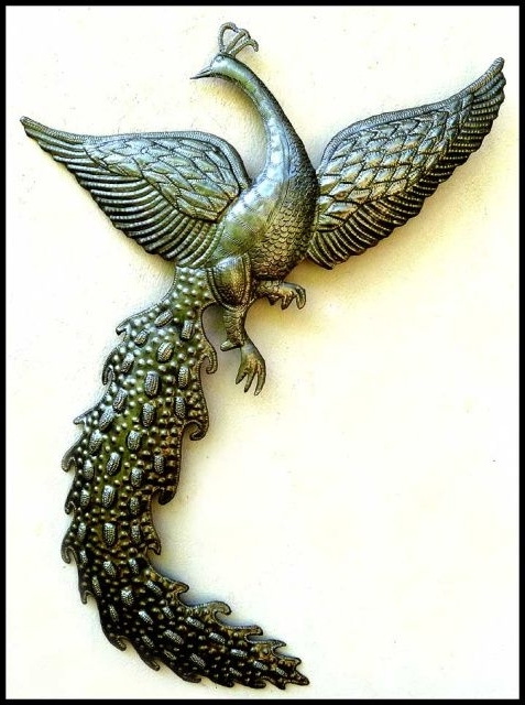 2018 Metal Peacock Wall Art – Haitian Art, Steel Drum Metal Art, Metal For Peacock Metal Wall Art (View 9 of 15)