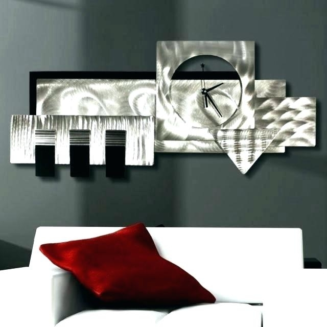 2018 Metal Wall Art Clocks Metal Wall Art Clock Metal Wall Art Clocks Within Abstract Metal Wall Art With Clock (View 3 of 15)