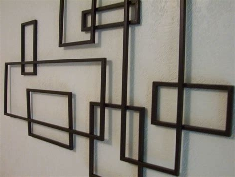 2018 Mid Century Modern Abstract Wall Art Sculpture Painting Retro, Mid For Abstract Geometric Metal Wall Art (View 11 of 15)