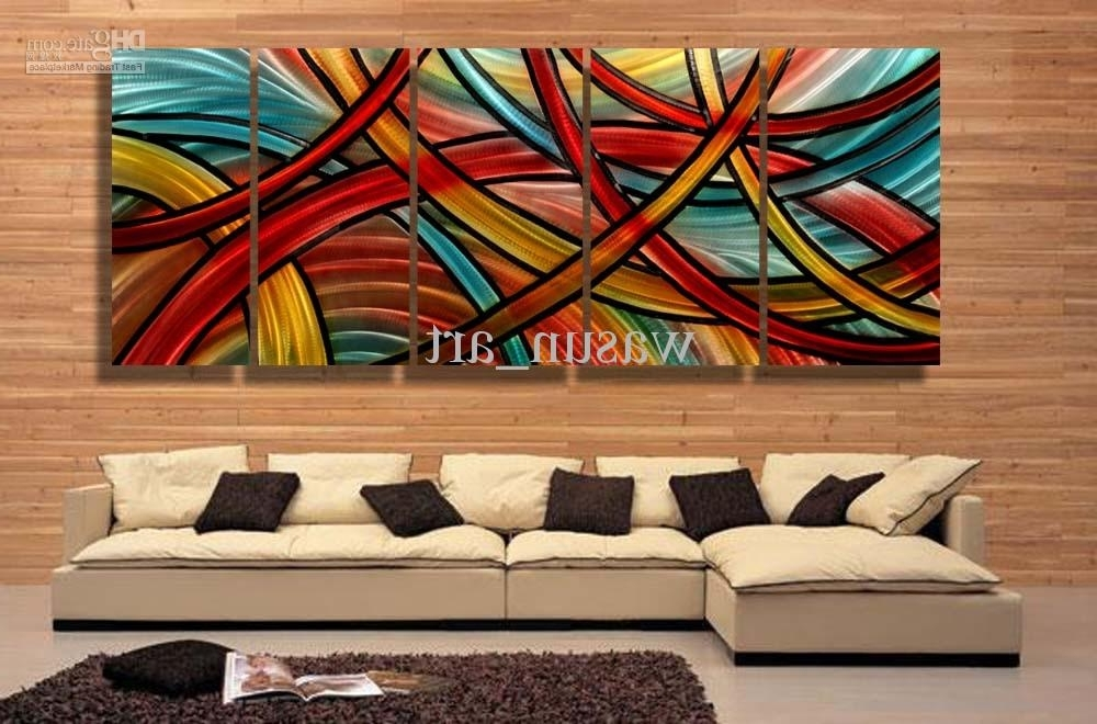 2018 Modern Contemporary Abstract Painting,metal Wall Art Sculpture Inside 2017 Abstract Art Wall Hangings (View 2 of 15)