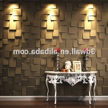 2018 Modern Wall Art Decor 3D Wall Covering Panels For House Interior With Regard To 3D Modern Wall Art (View 1 of 15)