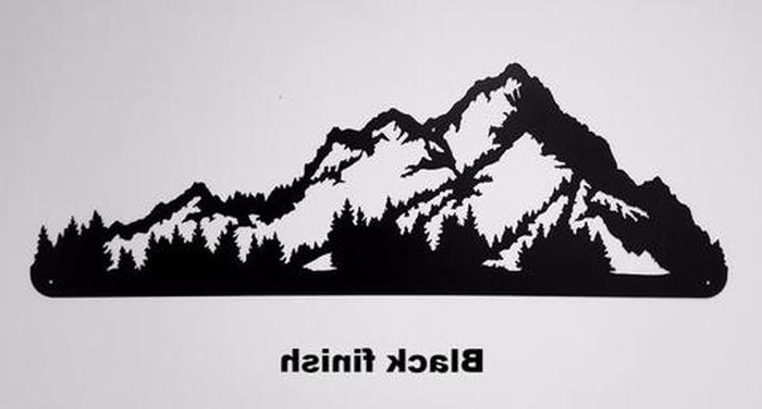 2018 Mountain Scene Metal Wall Art With (View 6 of 15)