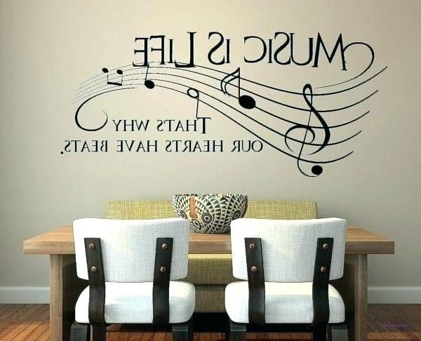 2018 Musical Wall Decorations Music Themed Decor Music Themed Wall Decor With Regard To Music Themed Wall Art (View 5 of 15)