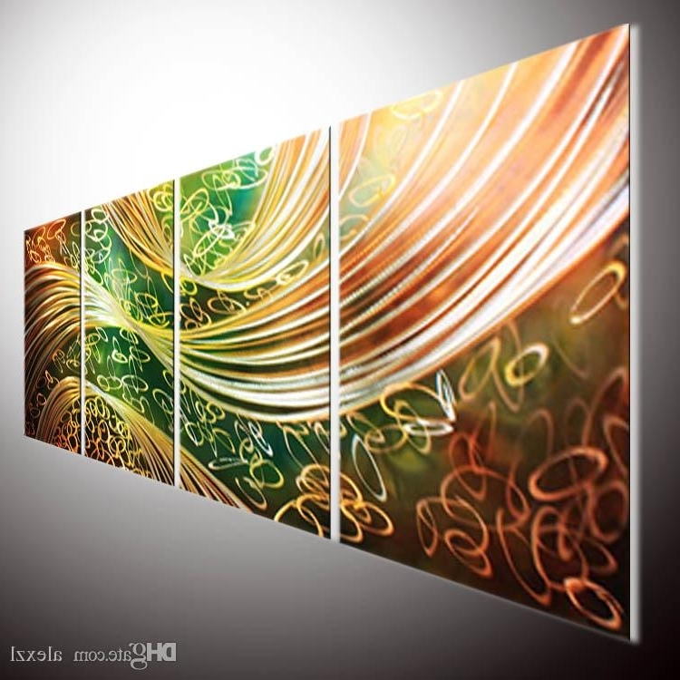 2018 Orginal Abstract Painting Wall Original Abstract Wall Art Metal Inside Best And Newest Original Abstract Wall Art (View 1 of 15)