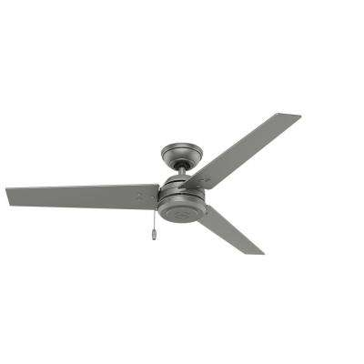 2018 Outdoor Ceiling Fans At Home Depot Regarding Hunter – Silver – Outdoor – Ceiling Fans – Lighting – The Home Depot (View 1 of 15)