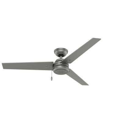 2018 Outdoor Ceiling Fans At Home Depot Regarding Hunter – Silver – Outdoor – Ceiling Fans – Lighting – The Home Depot (View 12 of 15)