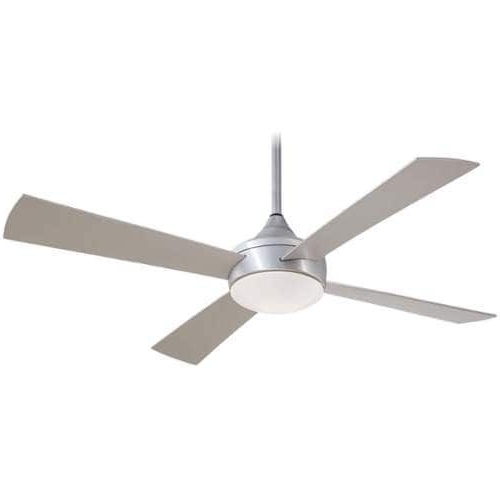 2018 Outdoor Ceiling Fans With Aluminum Blades Intended For Minkaaire Aluma Wet 4 Blade 52 Indoor / Outdoor Ceiling Fan – Light (View 2 of 15)