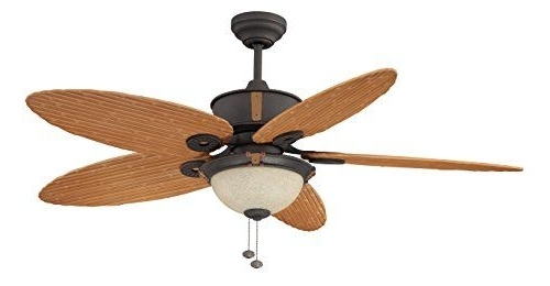 2018 Outdoor Ceiling Fans With Bamboo Blades For Litex E Eh52Non5C1S Earhart Collection 52 Inch Indoor/outdoor (View 7 of 15)