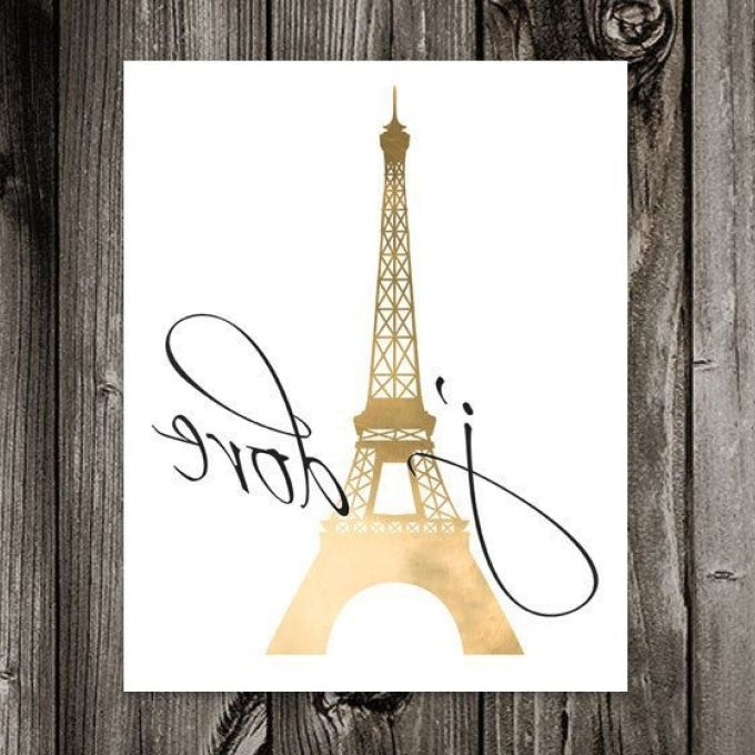 2018 Paris Theme Wall Art With Regard To Paris Eiffel Tower Vinyl Wall Decal Paris Theme Bedroom, French (View 12 of 15)