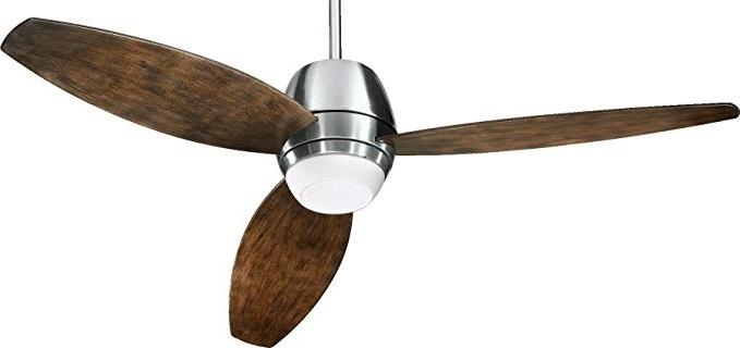 """2018 Quorum 142523 65, Bronx Patio Satin Nickel 52"""" Outdoor Ceiling Fan Throughout Quorum Outdoor Ceiling Fans (View 2 of 15)"""