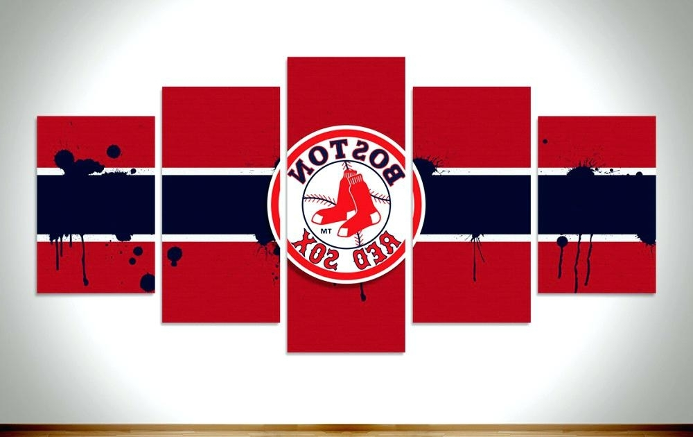 2018 Red Sox Wall Art with Boston Red Sox Wall Art The Red Boston Red Sox Canvas Wall Art