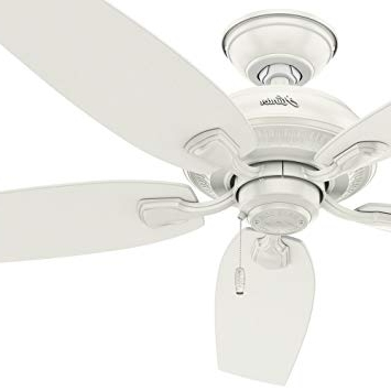 """2018 Rust Proof Outdoor Ceiling Fans Intended For Hunter Fan 52"""" Indoor/outdoor Ceiling Fan In Fresh White, 5 Blade (View 7 of 15)"""