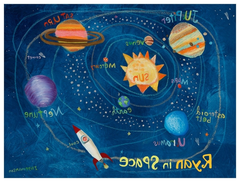 2018 Solar System, Space & Celestial Canvas Wall Art (View 10 of 15)