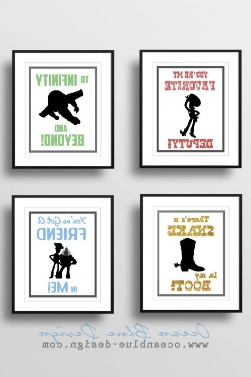 2018 Toy Story Prints – Set Of 4 – 8″x10″ Prints – White Background Regarding Toy Story Wall Art (View 1 of 15)