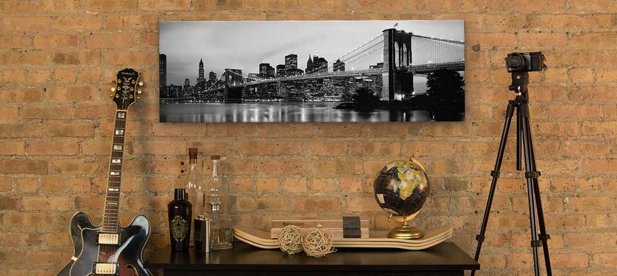 2018 Urban Panoramic Horizontal Canvas Wall Art (View 11 of 15)