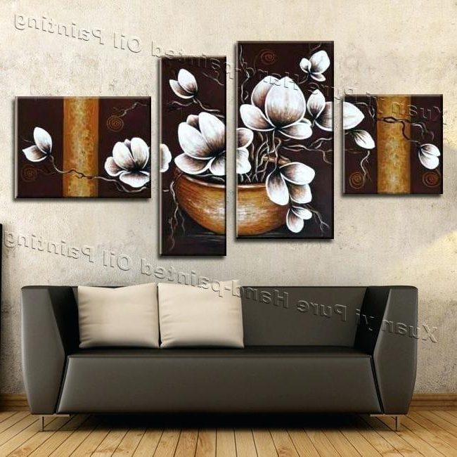 2018 Wall Art 4 Piece Set Handmade 4 Piece Canvas Wall Art Canvas Modern Regarding 4 Piece Wall Art Sets (View 1 of 15)