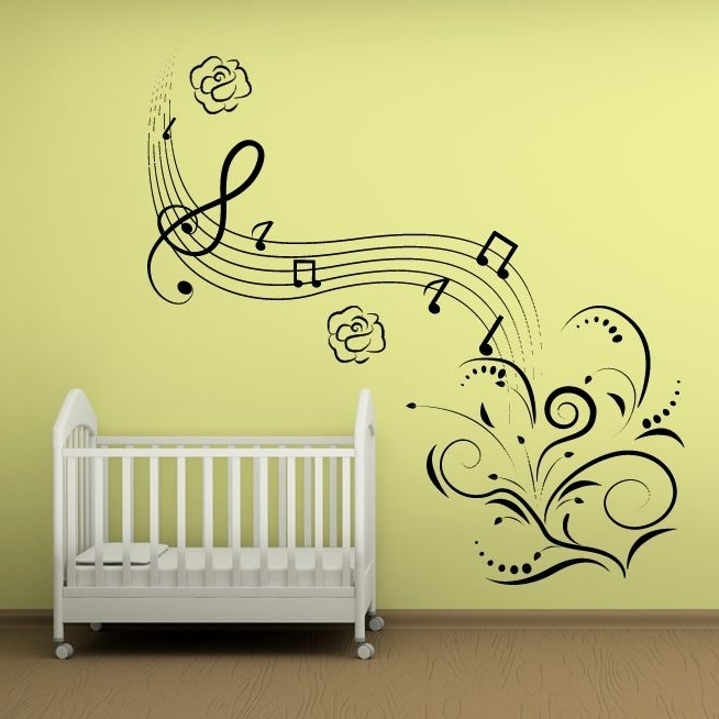 2018 Wall Art Designs: Cool Musical Note Wall Art Removable Feature Regarding Music Note Art For Walls (View 1 of 15)