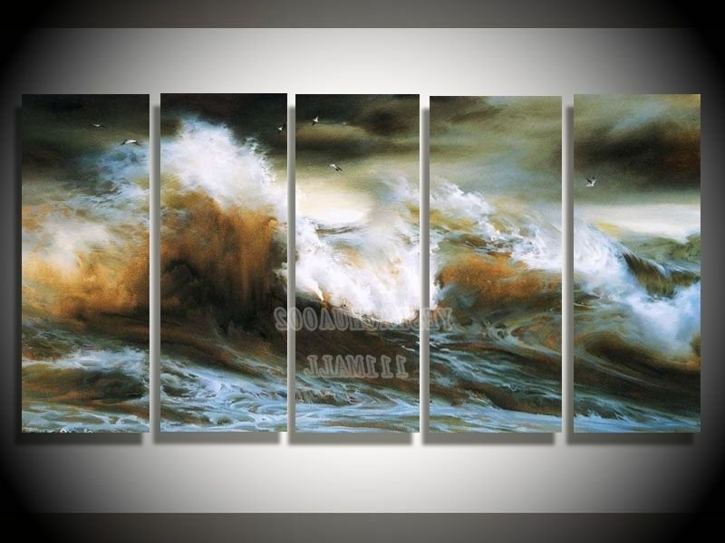 2018 Wall Art Designs: Nature Wall Art Abstract Oil Canvas Paintings Throughout Abstract Nature Wall Art (View 1 of 15)