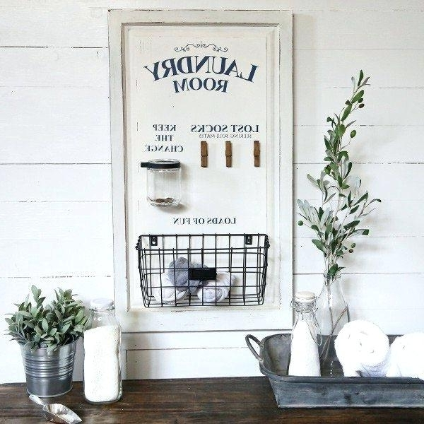 2018 Wall Art For Laundry Room Laundry Room Wall Decor Laundry Signs Within Laundry Room Wall Art Decors (View 1 of 15)